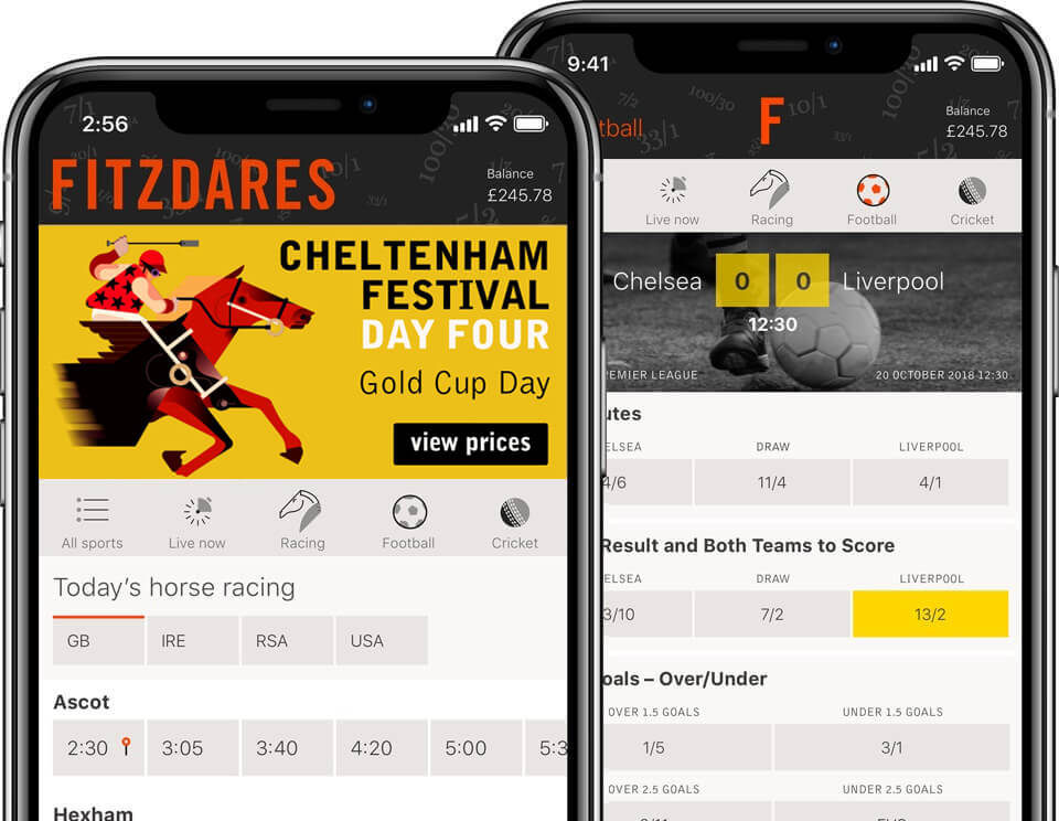 Fitzdares UK betting app for iPhone and Android. Bet on horse racing, football, tennis and other sports.